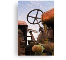 Old Rusty Tractor Canvas Print