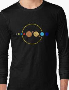 Planets and Sun Long Sleeve T-Shirt