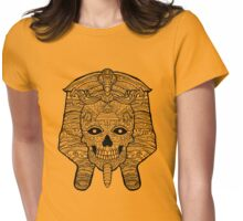 Ancient Egyptian Pharaoh Skull - Day of the Dead Womens Fitted T-Shirt