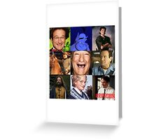 Robin Williams Collage Greeting Card