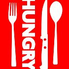 Hungry [Forks n Knives] [White]   Stay Hungry Stay Foolish Shirts by FreshThreadShop