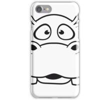 gesicht kopf nilpferd klein dick süß niedlich comic cartoon hippo  iPhone Case/Skin