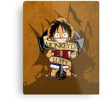 Chibi Luffy Metal Print