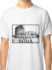 rome roma italia italy italian colosseum gladiator roman Classic T-Shirt