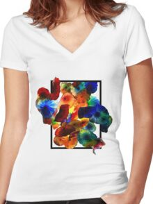 Chihuly Cutout Women's Fitted V-Neck T-Shirt