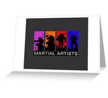 Martial Artists Greeting Card