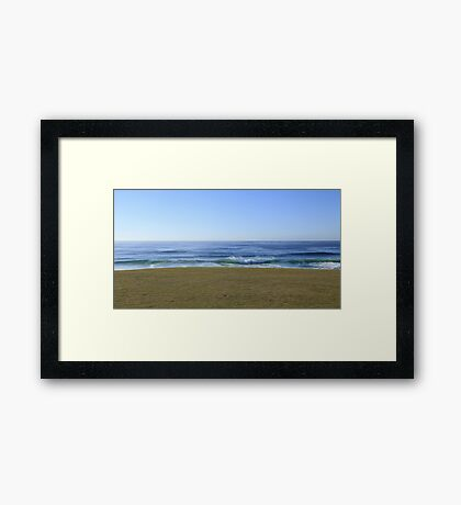 Where The Earth Ends And The Sea Begins Framed Print