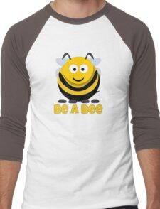 Be A Bee Cool Cute Funny Cartoon T-Shirts and Gifts Men's Baseball ¾ T-Shirt