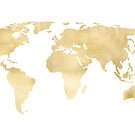 Gold World Map by Tangerine-Tane