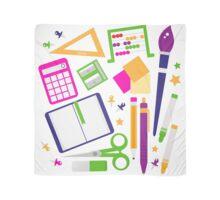 Set of school items cartoon : beautiful clip-art Illustration Scarf
