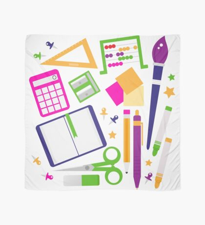 Set of school items cartoon : beautiful clip-art Illustration Scarf