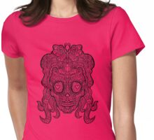 Female Sugar Skull - Day of the Dead Womens Fitted T-Shirt