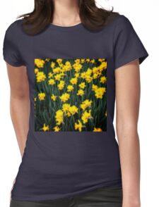 Daffodils One Womens Fitted T-Shirt
