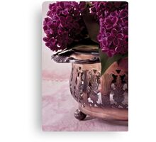 Lilac And Silver  Canvas Print