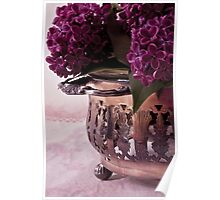 Lilac And Silver  Poster