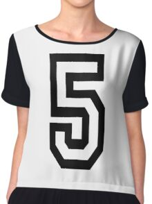 5, TEAM, SPORTS, NUMBER 5, FIFTH, FIVE, Competition,  Chiffon Top