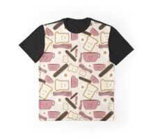 cute breakfast print Graphic T-Shirt