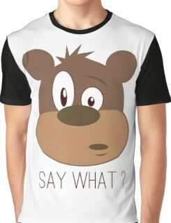 Cool Cute Cartoon Funny Bear Confused Say What T-Shirts and Gifts Graphic T-Shirt