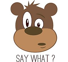 Cool Cute Cartoon Funny Bear Confused Say What T-Shirts and Gifts Photographic Print