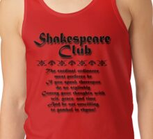 Shakespeare Club Tank Top