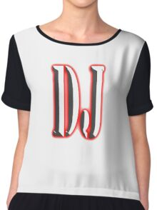 D.J, Deejay, Music, DJ, Club, Disc Jockey, Dance, House, Rock, Pop, Regae Chiffon Top