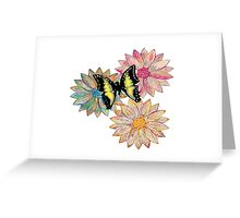 blossoms with butterfly Greeting Card