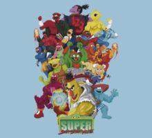 Super Sesame Street Fighter One Piece - Short Sleeve