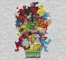 Super Sesame Street Fighter One Piece - Long Sleeve