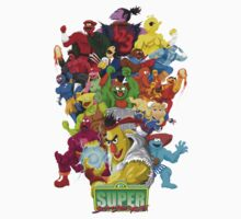 Super Sesame Street Fighter One Piece - Long Sleeve