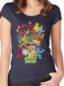 Super Sesame Street Fighter Women's Fitted Scoop T-Shirt