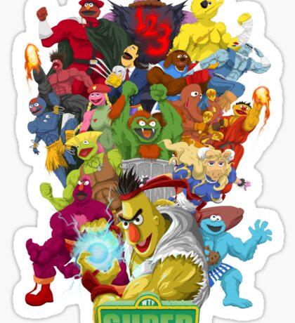 Super Sesame Street Fighter Sticker