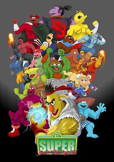 Super Sesame Street Fighter by gavacho13