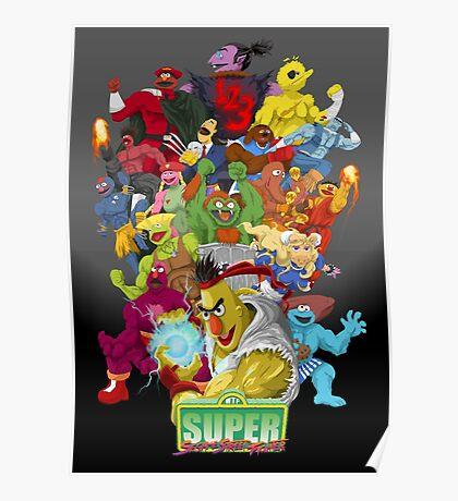 Super Sesame Street Fighter Poster