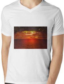 Night is Falling Mens V-Neck T-Shirt