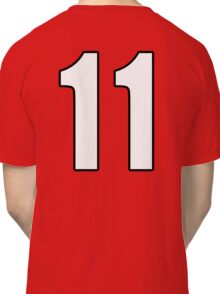 Football, Soccer, 11, Eleven, Number Eleven, Eleventh, Team, Number, Red, Devils Classic T-Shirt