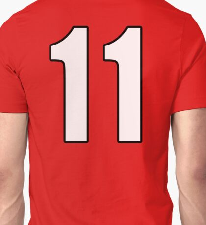 Football, Soccer, 11, Eleven, Number Eleven, Eleventh, Team, Number, Red, Devils Unisex T-Shirt