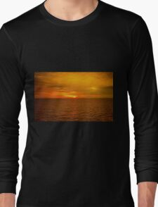 Sunset on the Caribbean Sea Long Sleeve T-Shirt
