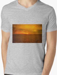 Sunset on the Caribbean Sea Mens V-Neck T-Shirt