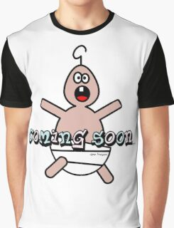 Funny Pregnancy Coming Soon Cartoon Baby Womens T-Shirts  Graphic T-Shirt