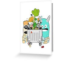 Recycling Monsters Greeting Card