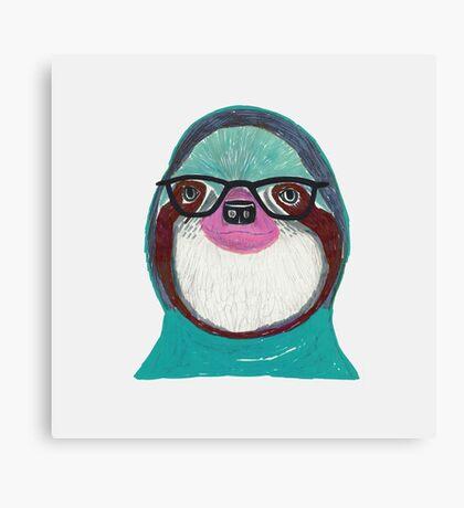 Sloth Geek Canvas Print