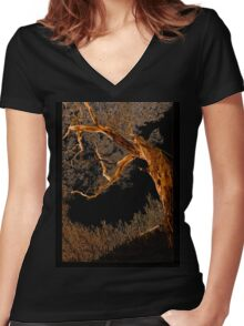 Reaching Up Women's Fitted V-Neck T-Shirt