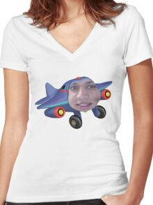 Tyler the jet engine Women's Fitted V-Neck T-Shirt