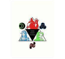 Ocarina of Time - Triforce Design Art Print