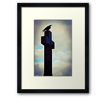 Sitting lonely. Framed Print