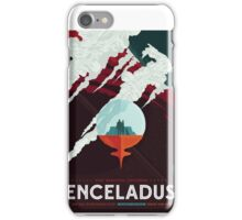 Enceladus - More Than 100 Breathtaking Geyers - Space Tourism Poster iPhone Case/Skin