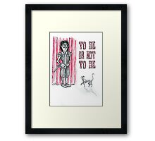 Hiding Hamlet - To Be or Not to Be! Framed Print