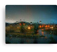 Rain Drops on a Window Canvas Print