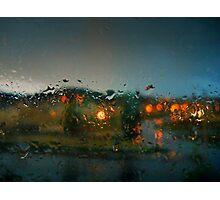 Rain Drops on a Window Photographic Print