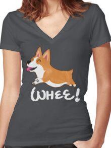 Whee! Women's Fitted V-Neck T-Shirt